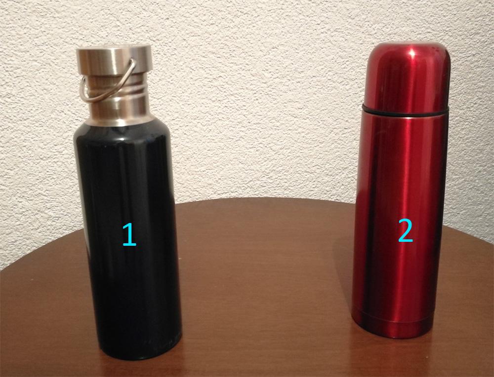 Experiment s kovovými lahvemi